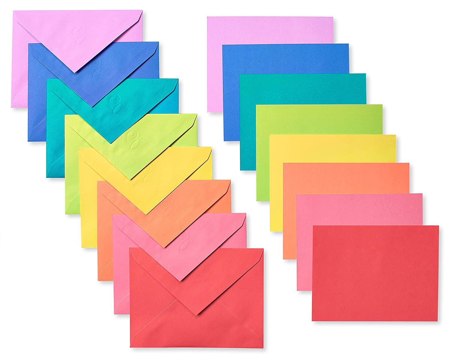Amazon Rainbow Blank Flat Panel Note Cards And Colored