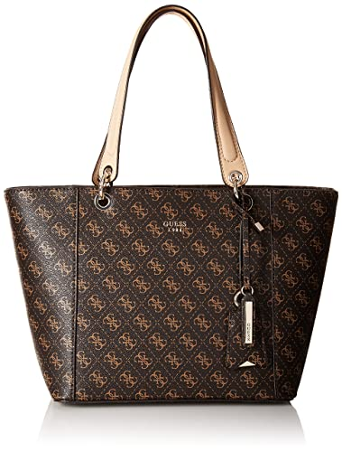 Guess Women s Faux Leather Tote Bag - Brown  Amazon.in  Shoes   Handbags 91816f3e999bc