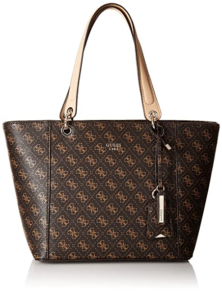 Guess Women s Faux Leather Tote Bag - Brown  Amazon.in  Shoes   Handbags 7807ab187cab5