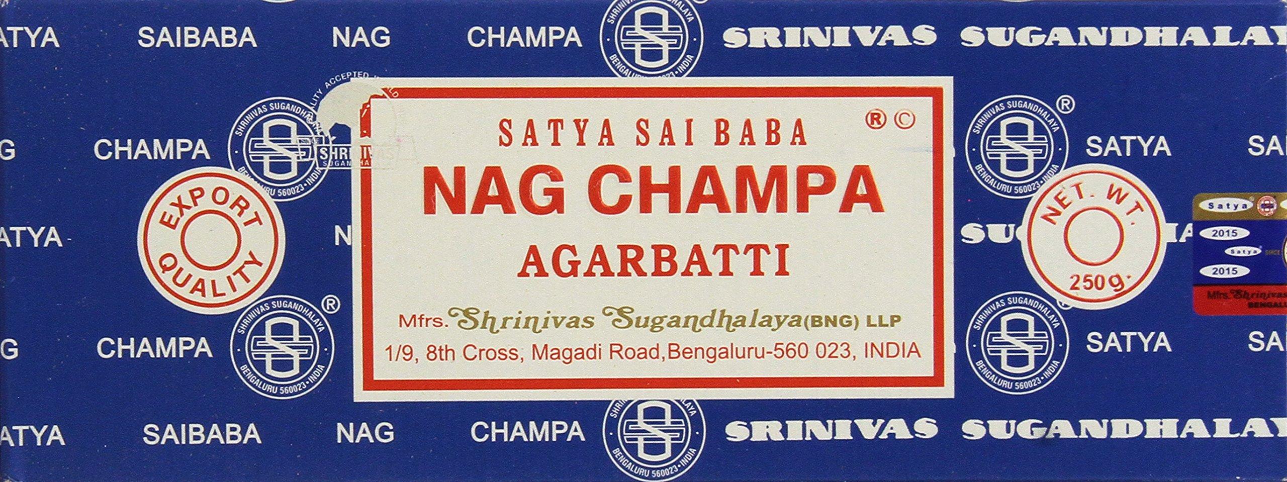Satya Sai Baba Nag Champa Agarbatti, 250 G Pack of 2