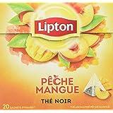 Lipton Thé Pêche Mangue 20 Sachets 36g - Lot de 3