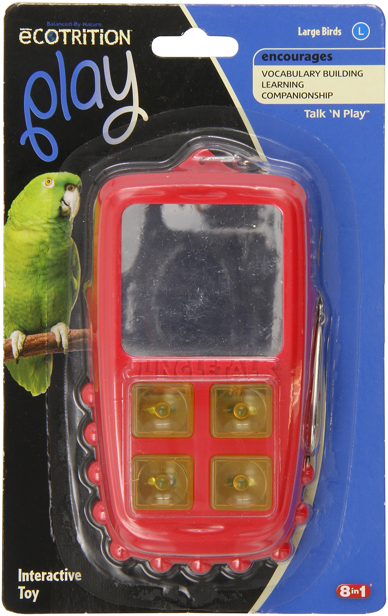 Jungle Talk Pet Products BJN47010 Play Phone Bird Interactive Toys, Large by JungleTalk (Image #1)