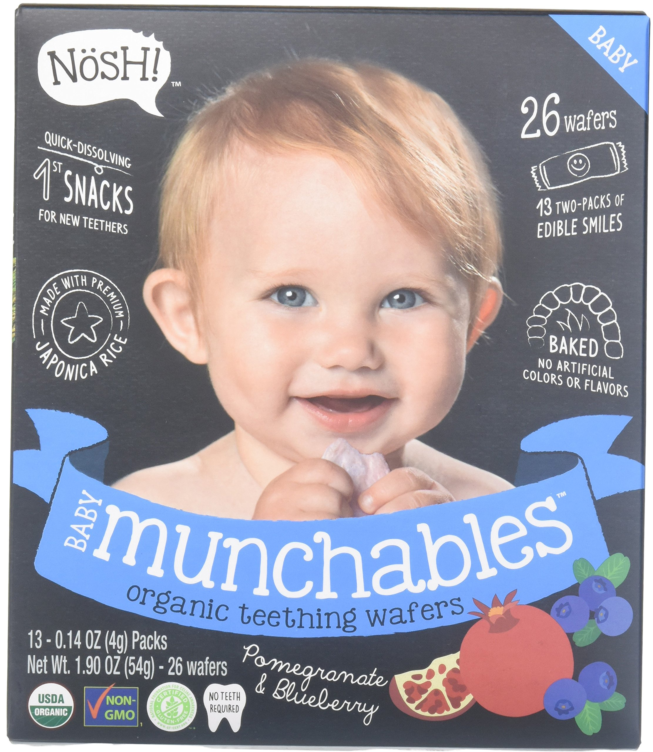 Nosh Baby Munchables Teethers Organic Rice Teething Wafers