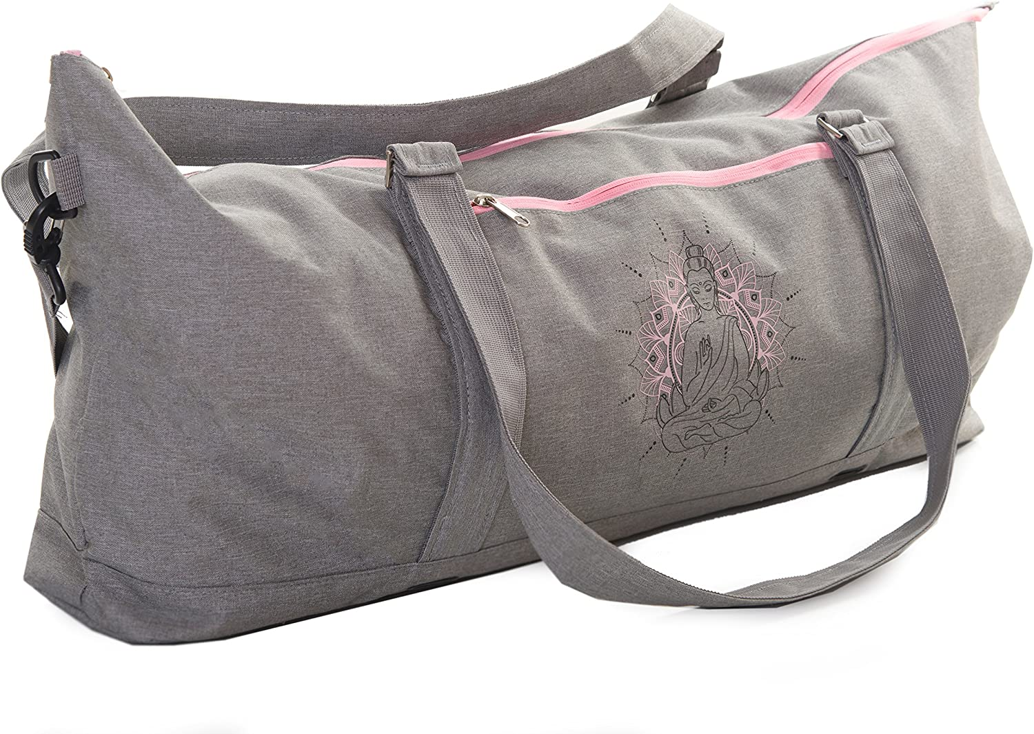 JamPa Yoga Mat Carrier   Yoga Bag with Full Zipper Closing   Adjustable Strap   Many Compartments   Easy to Carry   Extra Wide Mats Will Not Fit