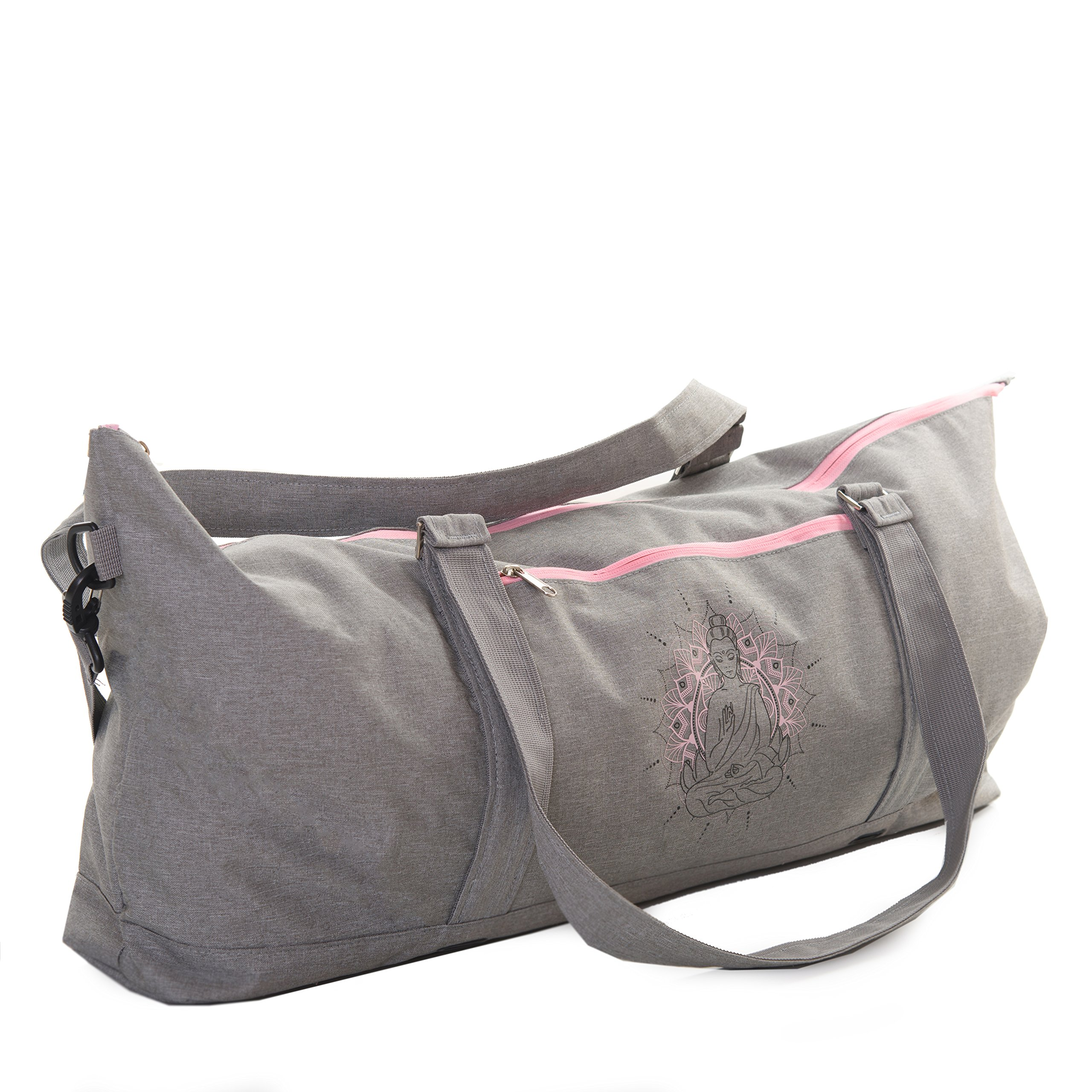 JamPa Yoga Mat Tote Bag | Full Zipper Closing | Adjustable Strap | Many Compartments | Easy to Carry | Pro Mats Will Not Fit