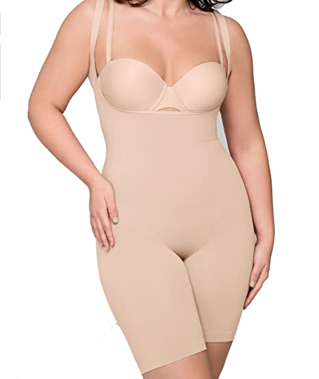 92de9b5f4 Body Wrap Smooth Catwalk High-Waist Long-Leg Bodysuit Nude 2X at ...