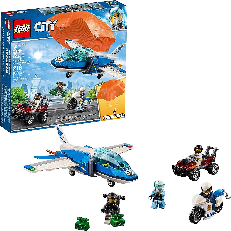LEGO City Sky Police Parachute Arrest 60208 Building Kit (218 Pieces)