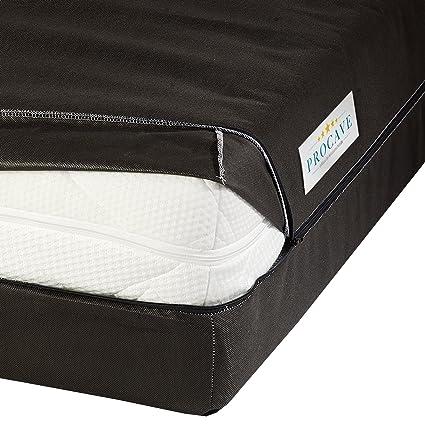 PROCAVE Funda de colchón Transpirable y con Cremallera, Cubierta o Bolsa de colchón para el Cuidado y el Almacenamiento: Amazon.es: Hogar