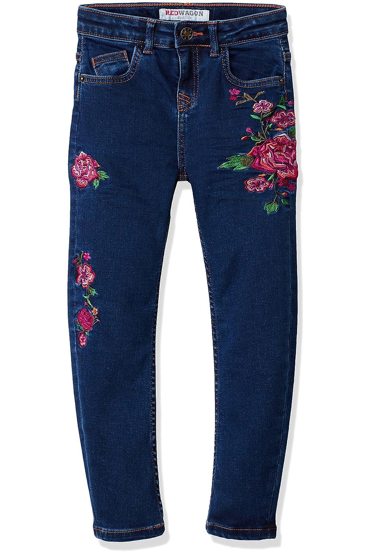 RED WAGON Jeans con Ricami Floreali Bambina