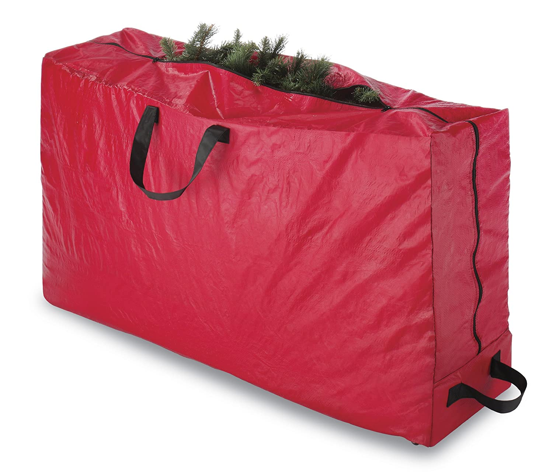 amazoncom whitmor christmas storage collection christmas tree bag with wheels home kitchen - Christmas Tree Bag