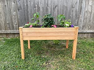Natural Choice Products DIY Eucalyptus Raised Planter Beds, Most Durable Rot Resistant Planter, Long Lasting Planter Bed
