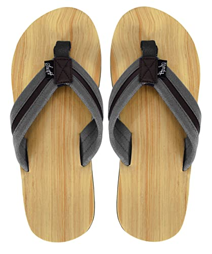 4a4c5ab9f Peach Couture Mens Beach Flip Flops Textured Strappy Slip On Beach Sandals  Grey 8  Amazon.co.uk  Shoes   Bags