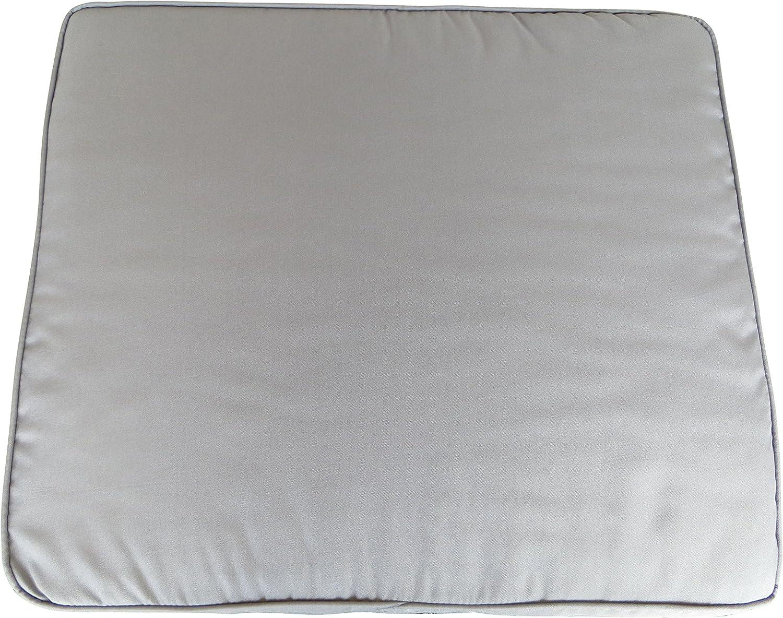 56 x 50 x 6 cm 022 Hochwertiges Madison Loungekissen in grau mit Rei/ßverschlu/ß