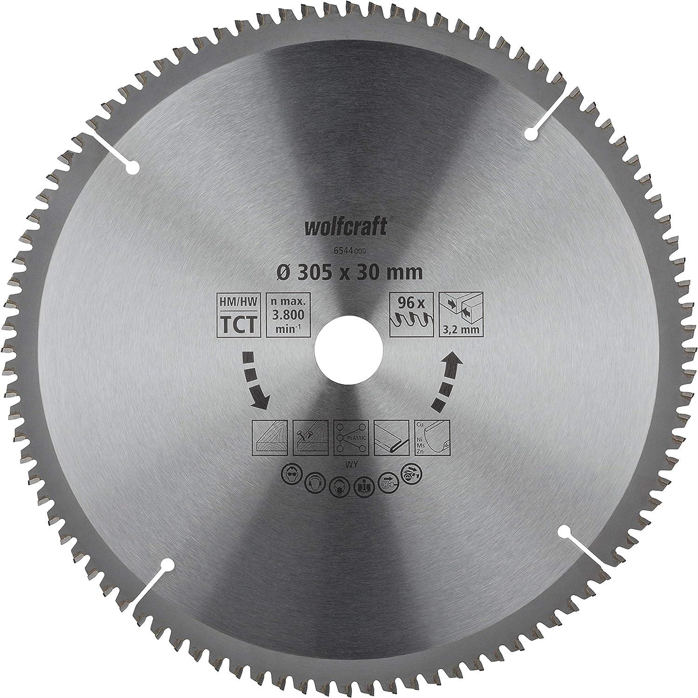 /ø 305 mm Wolfcraft 6544000 taglio fine e pulito Lama per troncatrice e troncatrice