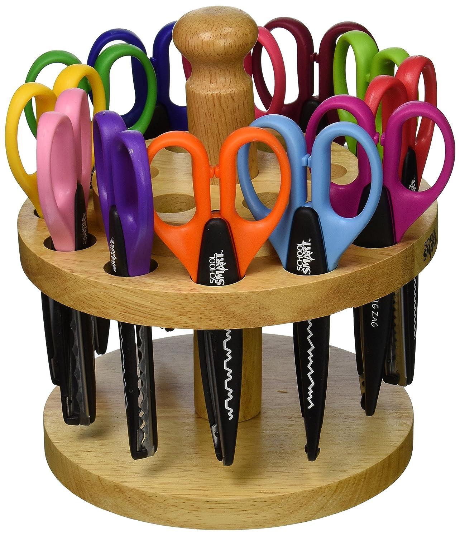 School Smart Paper Edger Scissors, 6-1/2 x 2-1/2 Inches, Assorted Colors, Set of 12 School Specialty 085069