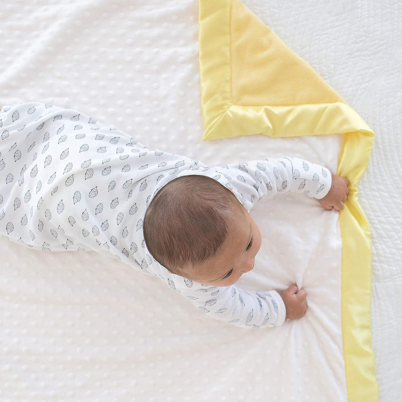 Amarillo pastel SwaddleDesigns Cobija para Carriola Velour de beb/é de puntos
