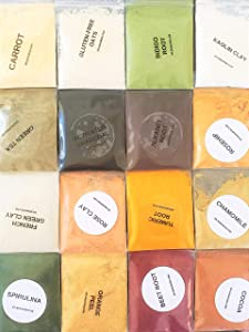 Natural Soap Colorant Set - Dye Pigment Powder Sampler Kit Variety Pack for Handmade Cosmetics Bath & Body Scrubs, Masks, Bath Bombs & More DIY