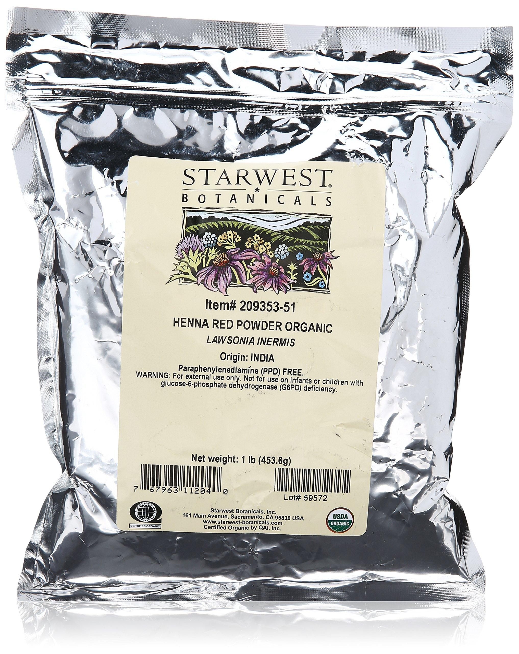 Organic Red Henna Leaf Powder l 1b by Starwest Botanicals