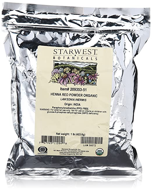 Henna Powder Red Organic – Starwest Botanicals 1 lb
