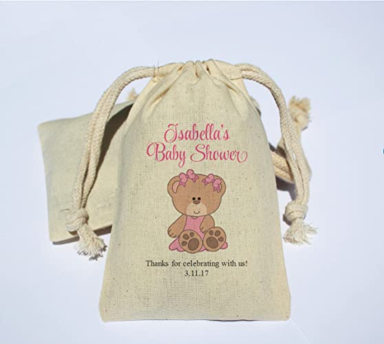 Amazon Personalized Cotton Muslin Baby Shower Party Favor Bag