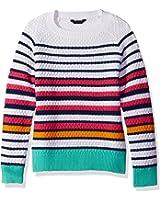 Tommy Hilfiger Big Girls' Mesh Stripe Sweater