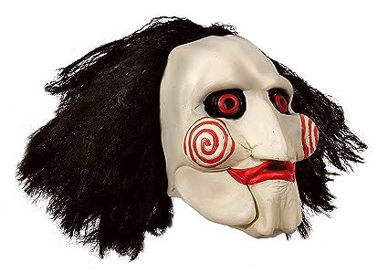 Completo de cabeza máscara de látex Saw con pelo