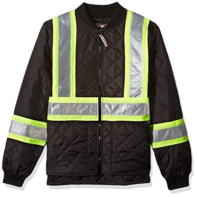 35f9f0b03b Amazon.com  Work King Safety Men s Hi Vis Quilted Safety Jacket  Clothing