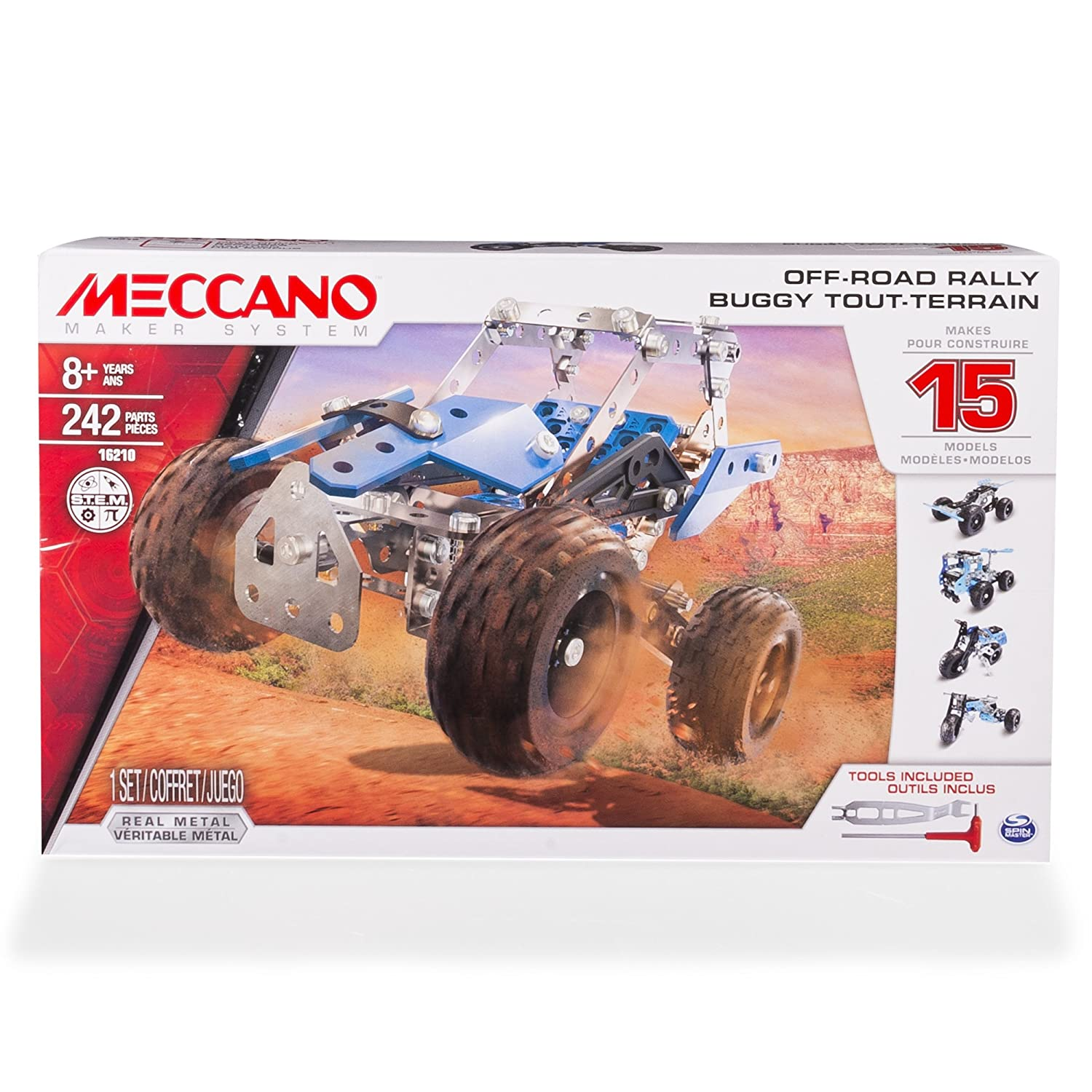 Meccano Multi-Model 15 Set - Side by Side ATV Game: Amazon