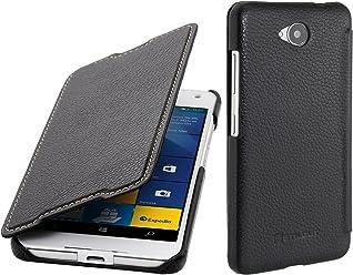 StilGut Book Type Case senza Clip, Custodia in pelle per Microsoft Lumia 650 / 650 Dual SIM, Nero