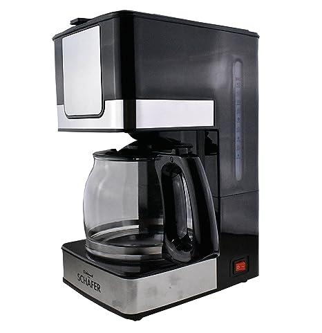 Cafetera eléctrica de acero inoxidable, volumen para 10 - 12 ...