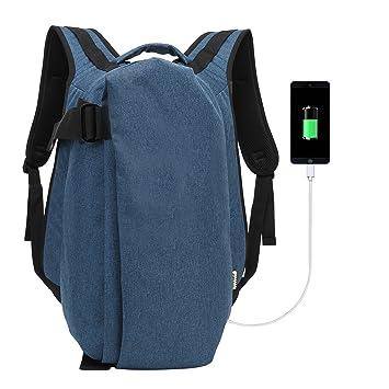 505b366708 Laptop Ordinateur Sac à Dos avec USB Chargement Antivol Dos pour PC Voyage  Homme Femme de
