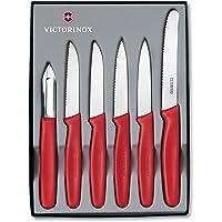 Victorinox 6-częściowy zestaw noży kuchennych do warzyw (obieraczka, nóż do warzyw, nadaje się do mycia w zmywarce…