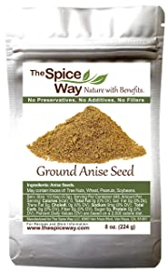 The Spice Way Premium Anise Seeds - Ground seeds | 8 oz | also called Aniseed. Used for baking bread, cooking and even tea.