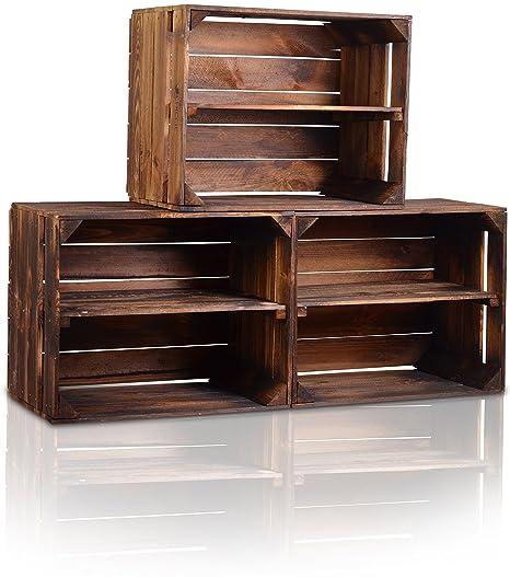 CHICCIE la Caja de Madera Vintage Look – , Distintos tamaños – gefla MMT Oscuro –