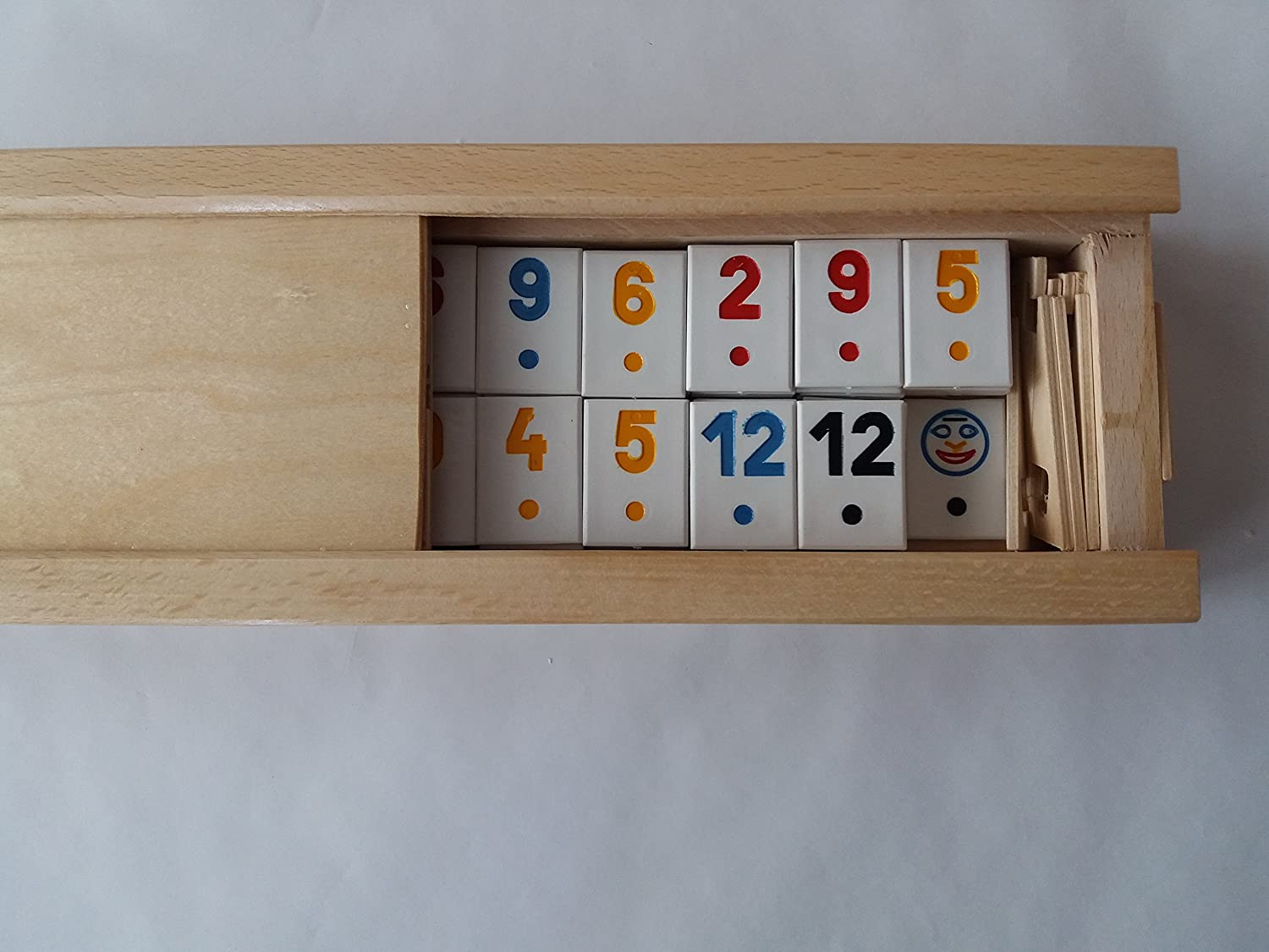 New big rummy,rummikub game in handmade wooden box,classical piece, children's,travel game,strategy,family game,board game , gift for men, children,child