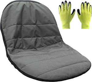 Premium Products - Tractor Seat Cover - Universal Size Replacement Lawn Mower Seat Cover with Bonus Gardening Gloves - 2 Year Warranty