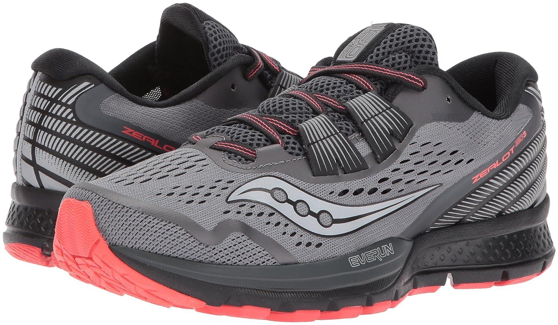 Saucony Women's Zealot Iso 3 Running Shoe B01N9KBNHY 11.5 B(M) US|Grey Coral