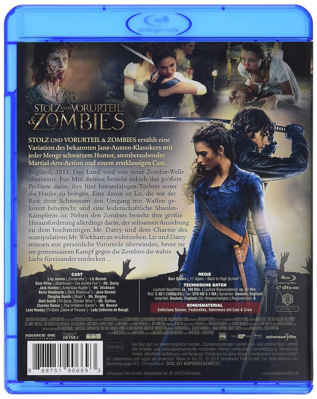 Stolz und Vorurteil & Zombies [Alemania] [Blu-ray]: Amazon.es: Lily James, Bella Heathcote, Suki Waterhouse, Sam Riley, Jack Huston, Douglas Booth, ...
