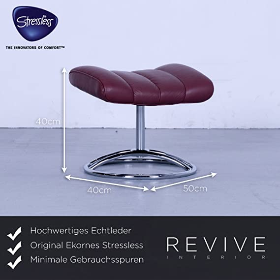 ekornes Stressless Relax sillón Escobillero Rojo Tamaño S ...