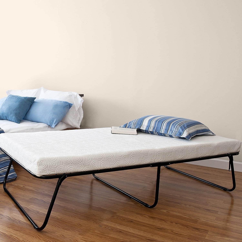 Amazon.com: Zinus Traveler Premier Folding Twin Guest Bed, Plus Bonus  Storage Bag: Kitchen & Dining