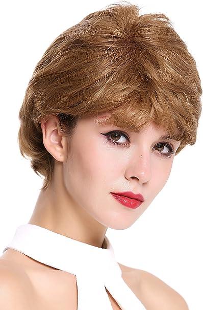 JH-710-1024B Parrucca Donna Corta Ondulata Folta Riga Mix Castano chiaro WIG ME UP /®