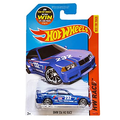 Hot Wheels 2015 HW Race BMW E36 M3 Race 146/250, Blue: Toys & Games