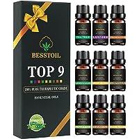 Juego de aceites esenciales de grado terapéutico TOP9