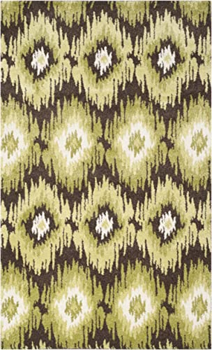 Safavieh Retro Collection RET2143-2852 Dark Brown and Green Area Rug