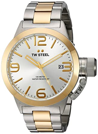db04cdc591d0 Amazon.com  TW Steel Men s CB31 Analog Display Quartz Two Tone Watch   Watches