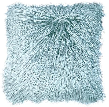 Cojín de pelo largo sintético 45 x 45 cm: Amazon.es: Hogar