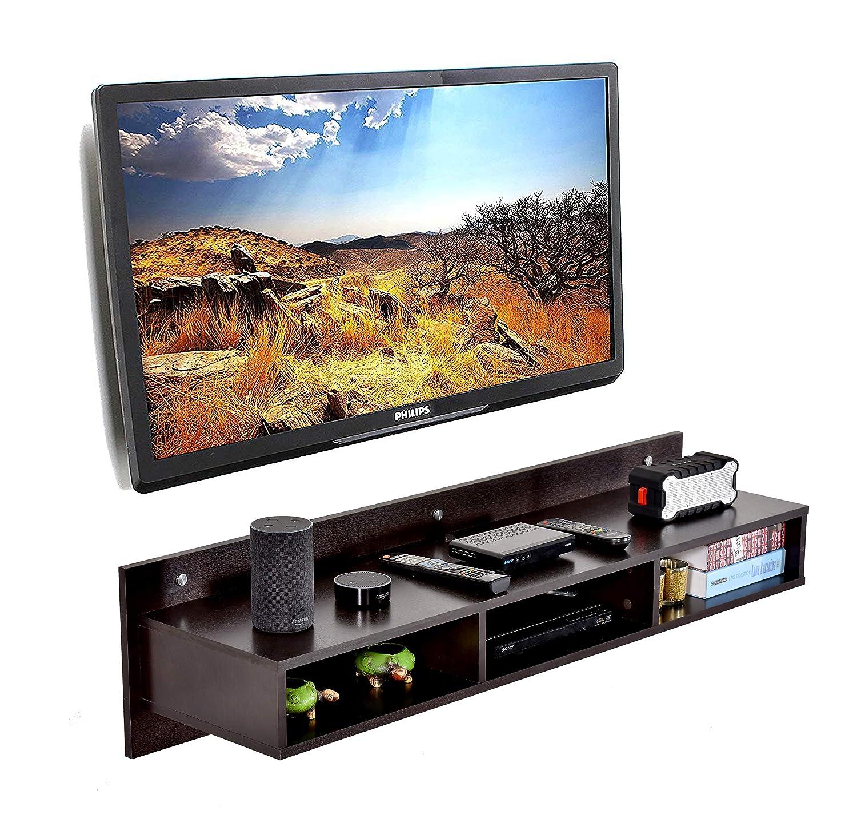 DeckUp Meritus-L Wall TV Unit (Dark Wenge, Matte Finish)