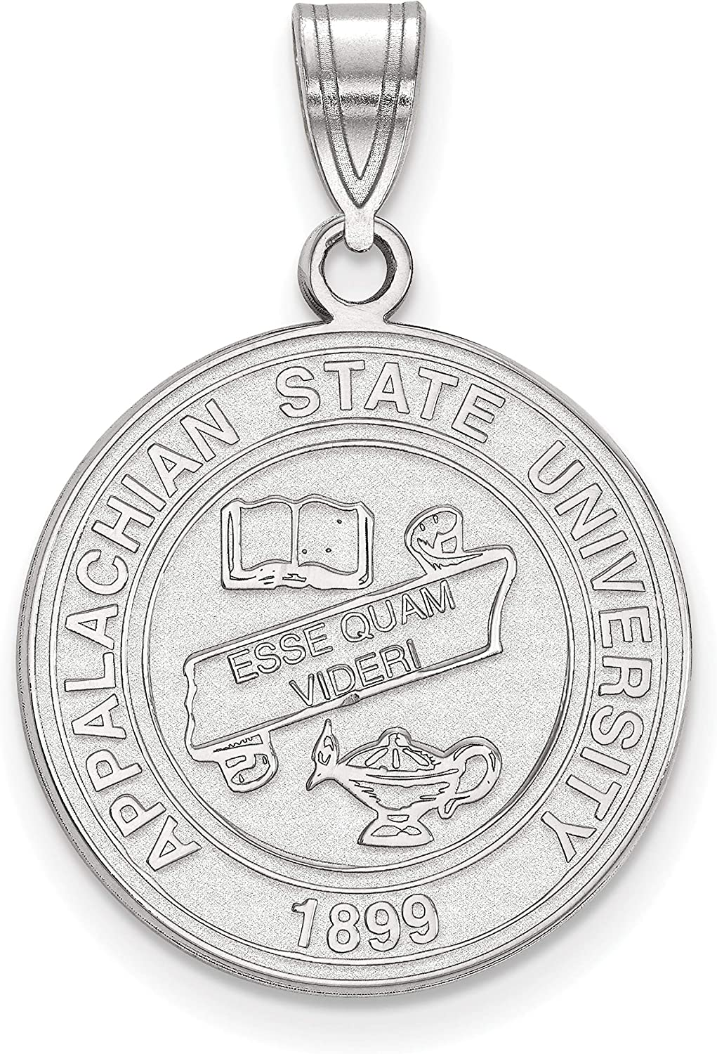 Rh-plated LogoArt University of Alabama Large Disc Pendant Beautiful Sterling silver 925 sterling Sterling S