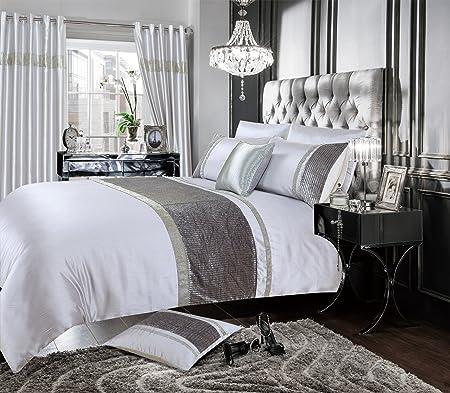 Crushed Velvet Luxury Duvet Quilt Cover Bedding Set Double King Super King Sizes