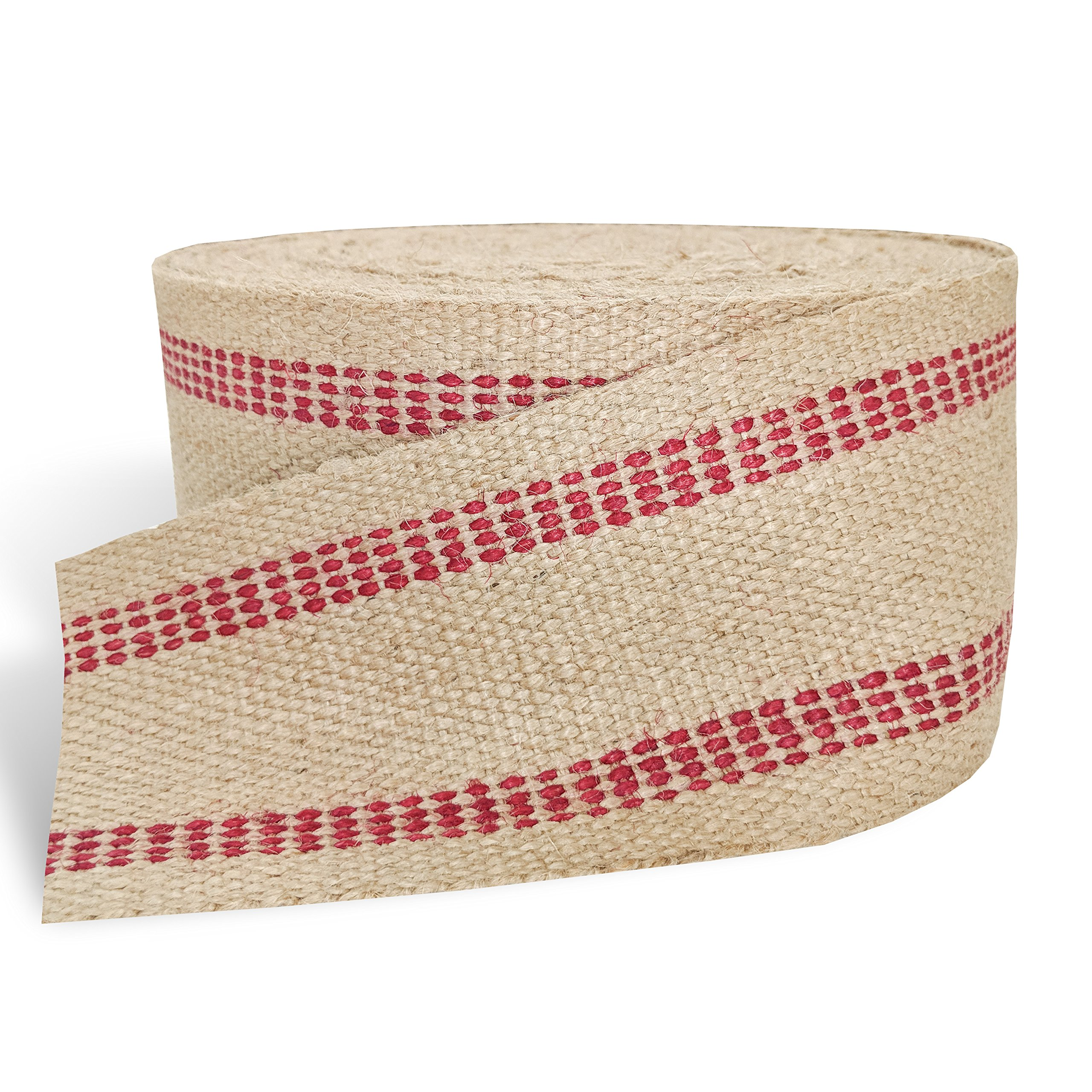 Red Upholstery Craft Jute Webbing, 11 lbs 3.5'' x 10Yd and 20 Yd Rolls (20 yd) by Wholesale Upholstery Supply (Image #4)